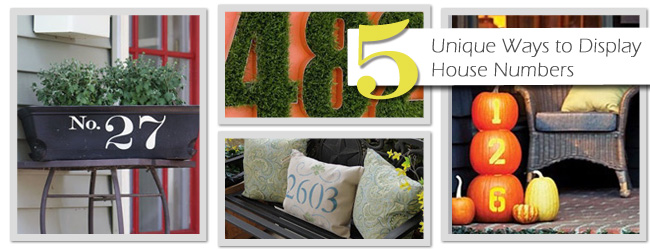 5 Unique Ways to Display Your House Number