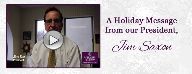 A Holiday Message from Jim Saxon