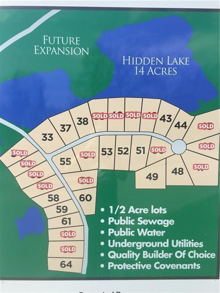 Lot 55 Hidden Lake Drive